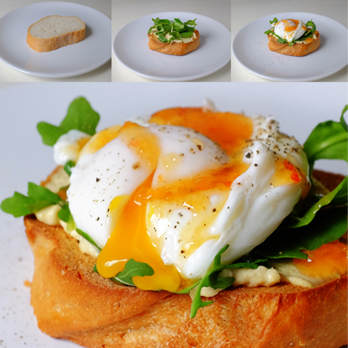 Egg Hummus Salad on Toast Blog
