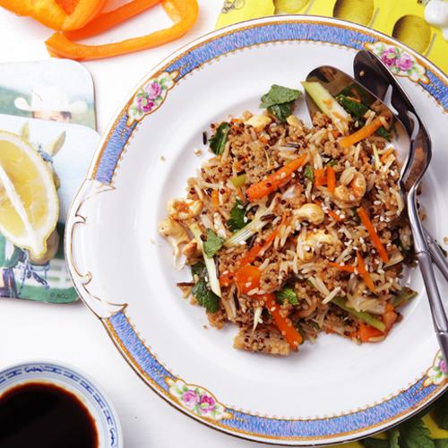 Quinoa and Wild Rice Salad