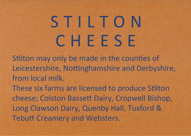 Stilton cheese farm list