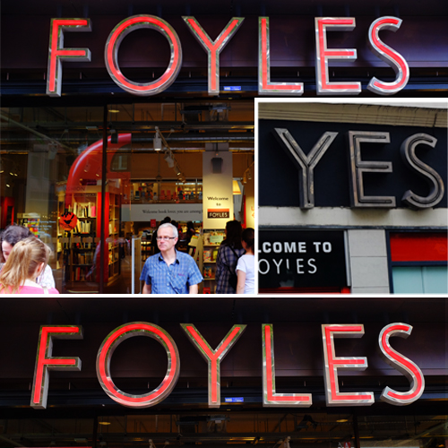 "foyles say ""yes"""