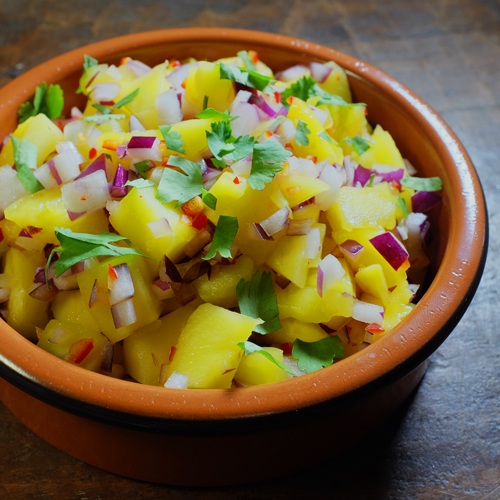 mango salsa in bowl